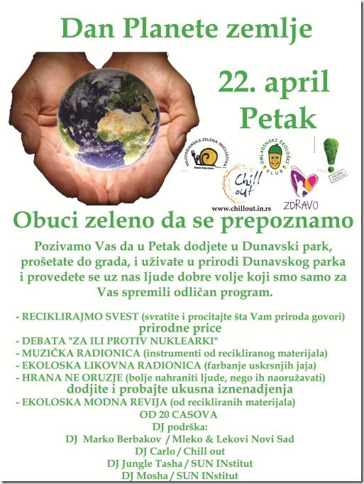 Plakat Dan Planete zemlje za web